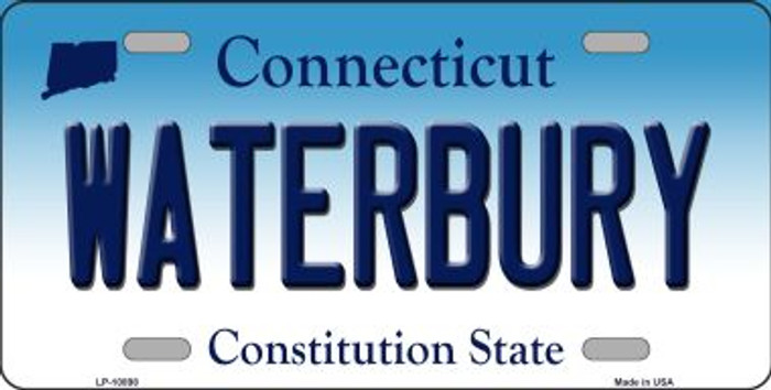 Waterbury Connecticut Background Wholesale Metal Novelty License Plate