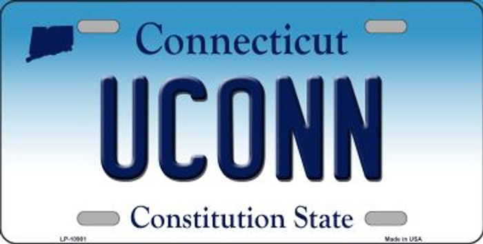 UConn Connecticut Background Wholesale Metal Novelty License Plate