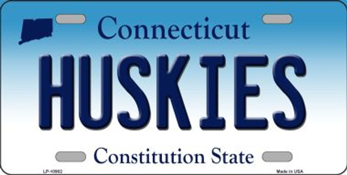 Huskies Connecticut Background Wholesale Metal Novelty License Plate
