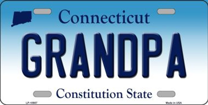 Grandpa Connecticut Background Wholesale Metal Novelty License Plate