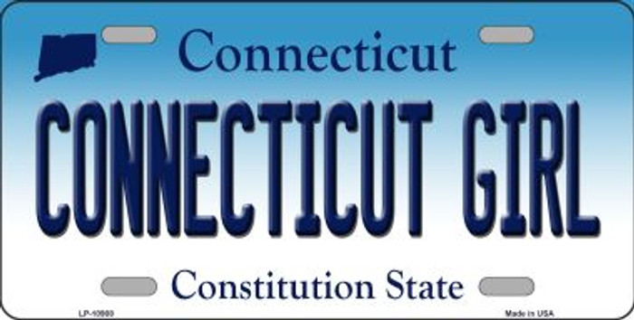 Connecticut Girl Connecticut Background Wholesale Metal Novelty License Plate