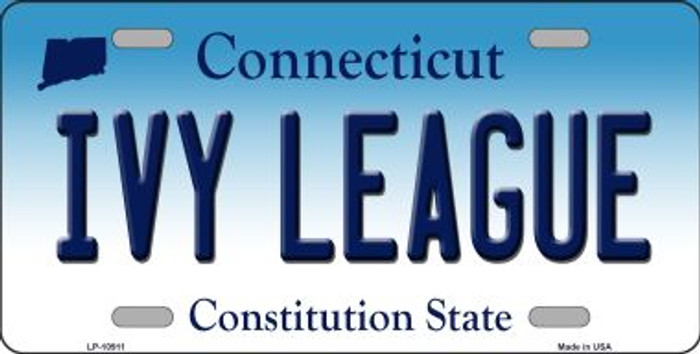 Ivy League Connecticut Background Wholesale Metal Novelty License Plate