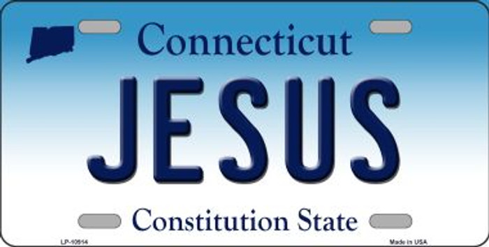 Jesus Connecticut Background Wholesale Metal Novelty License Plate