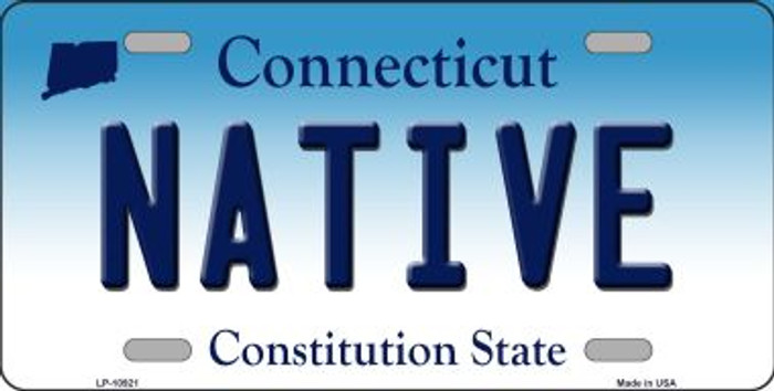 Native Connecticut Background Wholesale Metal Novelty License Plate