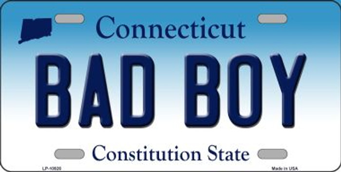 Bad Boy Connecticut Background Wholesale Metal Novelty License Plate