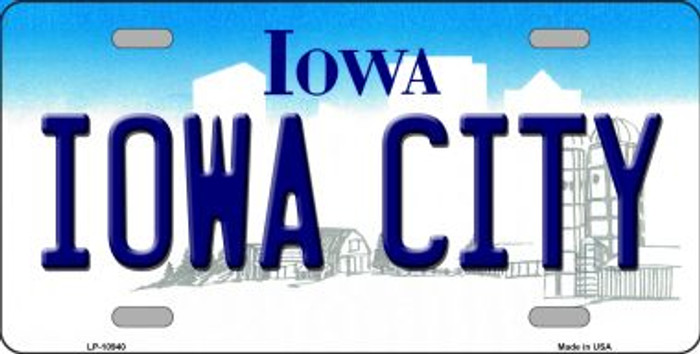 Iowa City Iowa Background Wholesale Metal Novelty License Plate