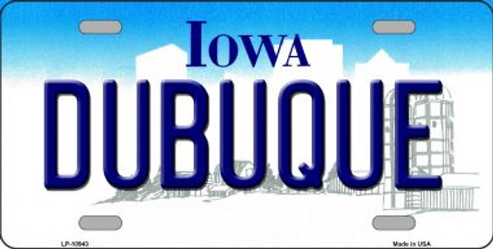 Dubuque Iowa Background Wholesale Metal Novelty License Plate