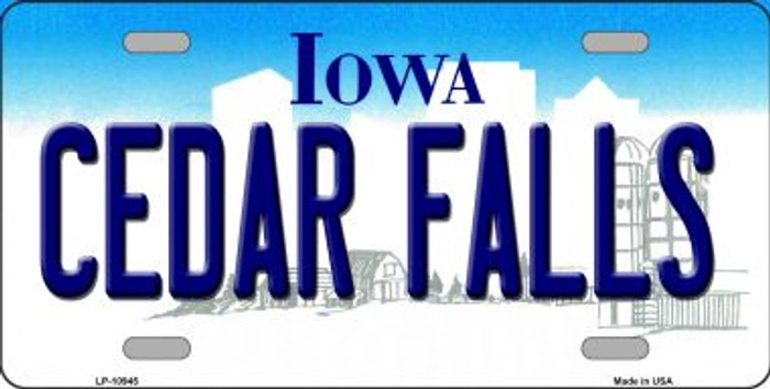 Cedar Falls Iowa Background Wholesale Metal Novelty License Plate