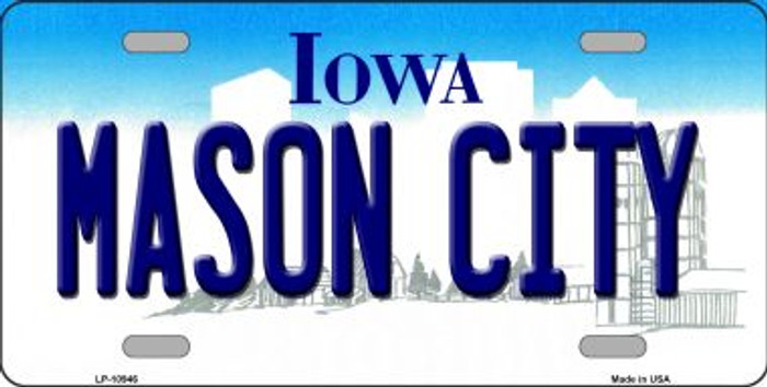 Mason City Iowa Background Wholesale Metal Novelty License Plate