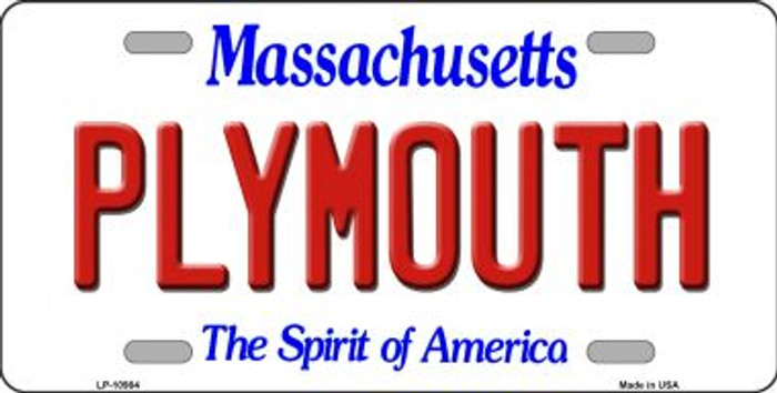 Plymouth Massachusetts Background Wholesale Metal Novelty License Plate