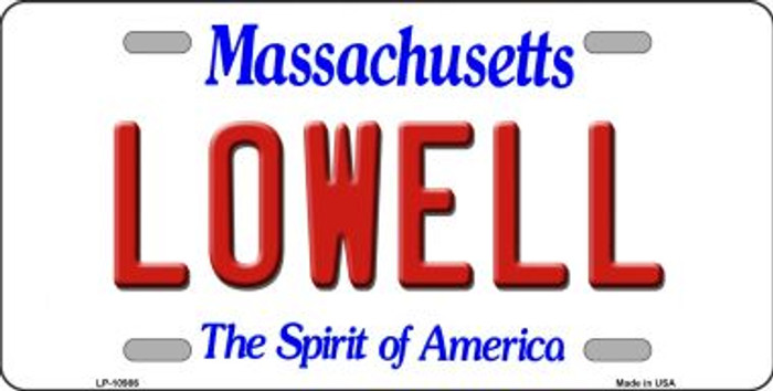 Lowell Massachusetts Background Wholesale Metal Novelty License Plate