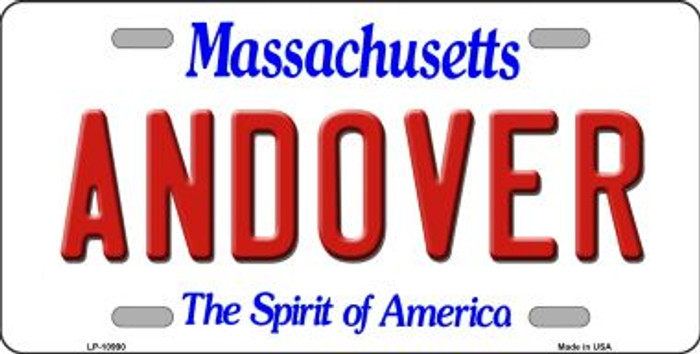 Andover Massachusetts Background Wholesale Metal Novelty License Plate