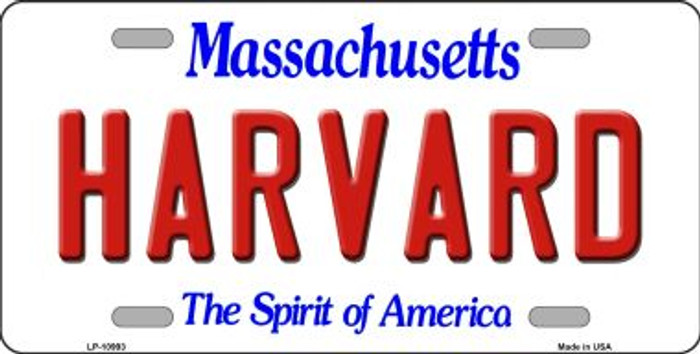 Harvard Massachusetts Background Wholesale Metal Novelty License Plate