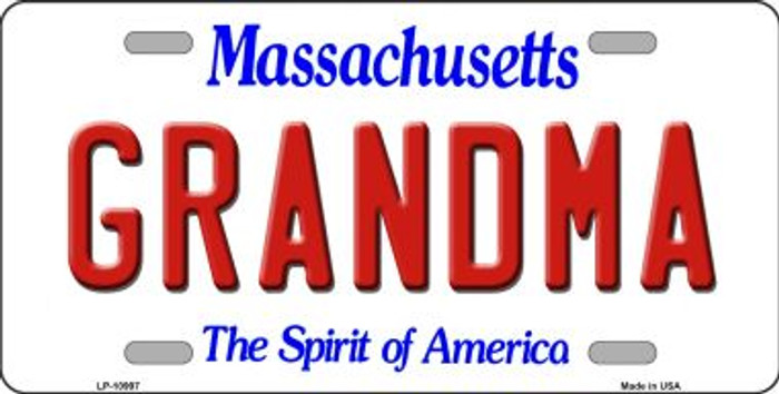 Grandma Massachusetts Background Wholesale Metal Novelty License Plate