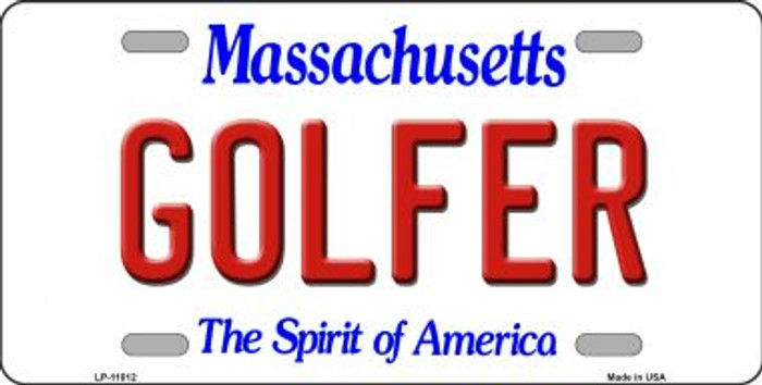 Golfer Massachusetts Background Wholesale Metal Novelty License Plate