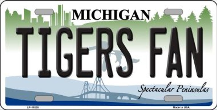 Tigers Fans Michigan Background Wholesale Metal Novelty License Plate