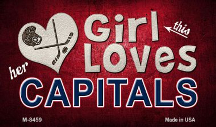 This Girl Loves Her Capitals Wholesale Novelty Metal Magnet