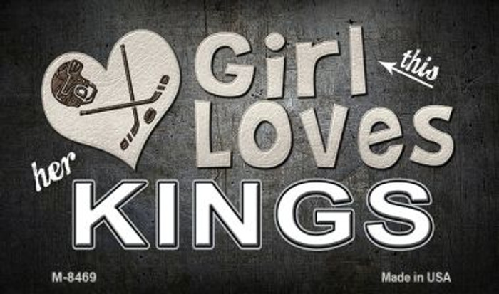 This Girl Loves Her Kings Wholesale Novelty Metal Magnet