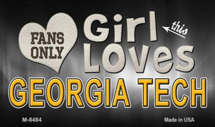 This Girl Loves Her Georgia Tech Wholesale Novelty Metal Magnet