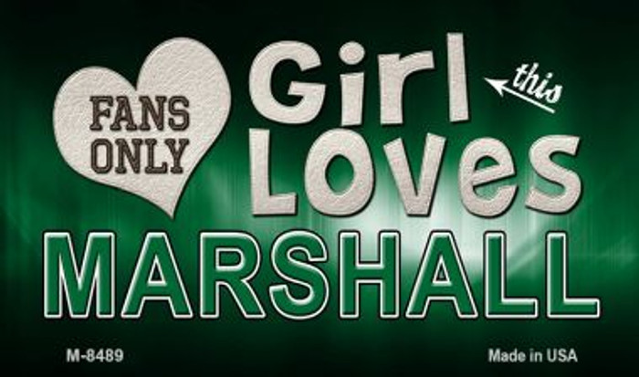 This Girl Loves Her Marshall Wholesale Novelty Metal Magnet