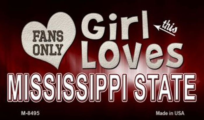 This Girl Loves Her Mississippi State Wholesale Novelty Metal Magnet