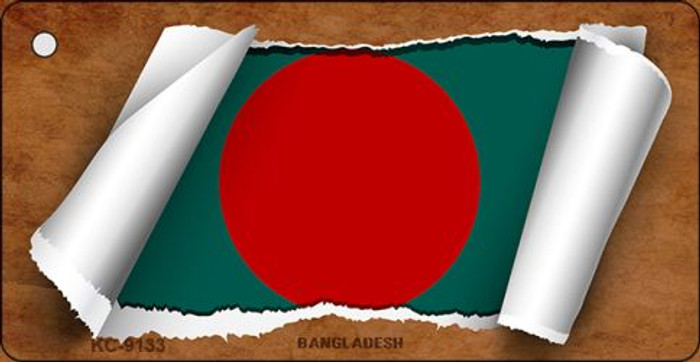 Bangladesh Flag Scroll Wholesale Novelty Key Chain