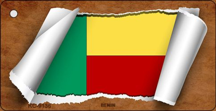 Benin Flag Scroll Wholesale Novelty Key Chain