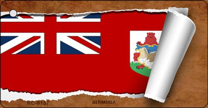 Bermuda Flag Scroll Wholesale Novelty Key Chain