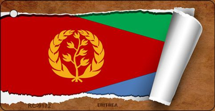 Eritrea Flag Scroll Wholesale Novelty Key Chain