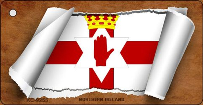 Northern Ireland Flag Scroll Wholesale Novelty Key Chain