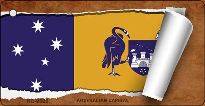 Australian Capital Flag Scroll Wholesale Novelty Key Chain