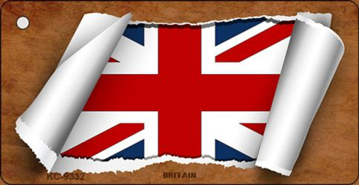 Britain Flag Scroll Wholesale Novelty Key Chain