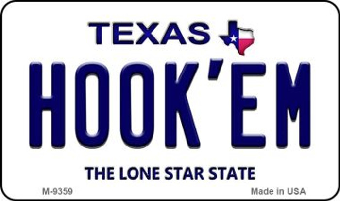 Hook'em Texas Background Wholesale Novelty Metal Magnet