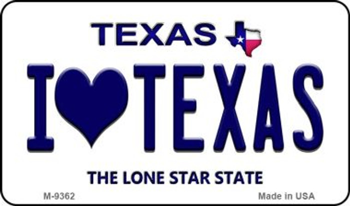 I Love Texas Texas Background Wholesale Novelty Metal Magnet