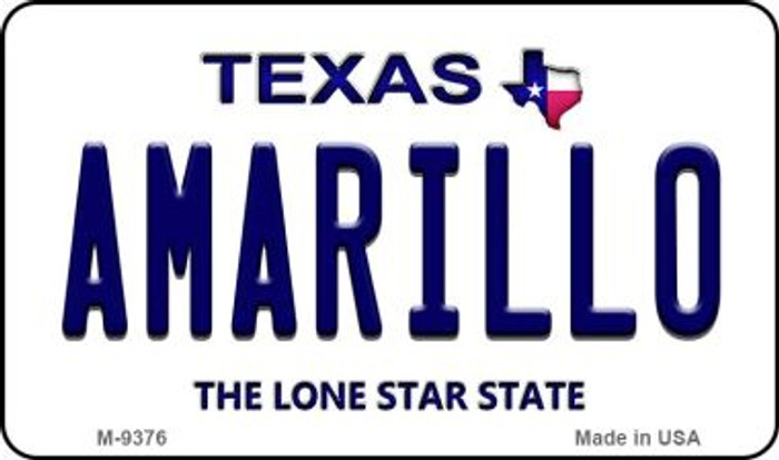Amarillo Texas Background Wholesale Novelty Metal Magnet