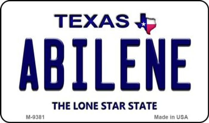 Abilene Texas Background Wholesale Novelty Metal Magnet