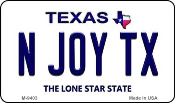 N Joy TX Texas Background Wholesale Novelty Metal Magnet
