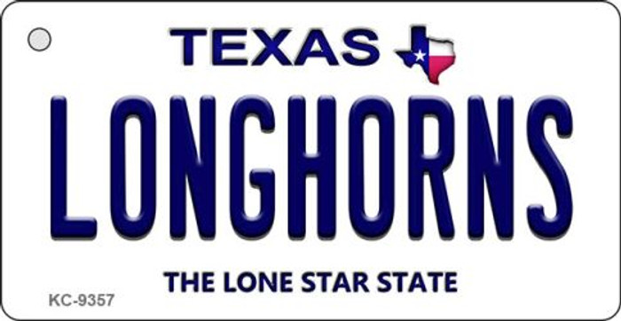 Longhorns Texas Background Wholesale Novelty Key Chain