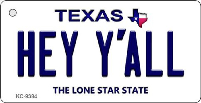 Hey Y'all Texas Background Wholesale Novelty Key Chain