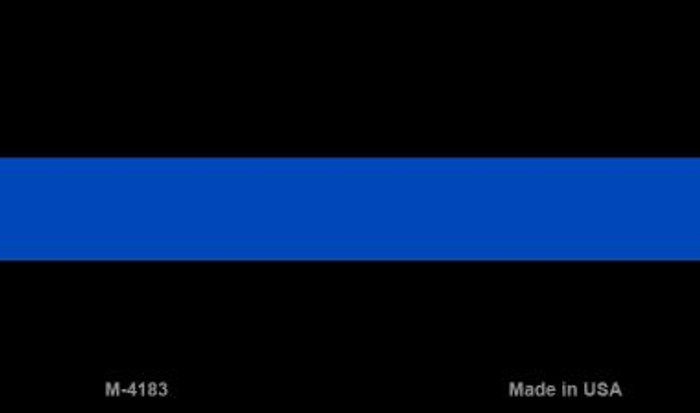 Thin Blue Line Police Wholesale Novelty Metal Magnet
