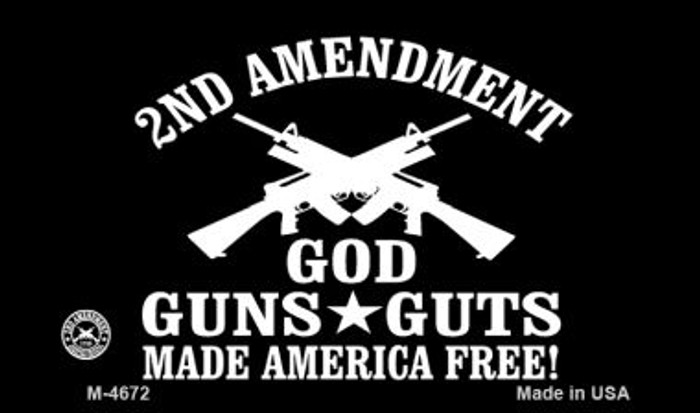 God Guns Guts Wholesale Novelty Magnet