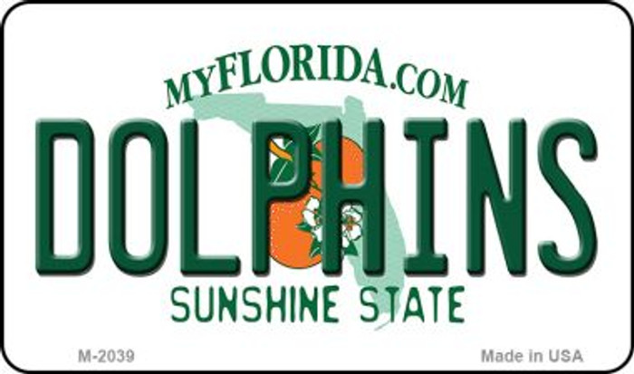 Dolphins Florida State Background Novelty Wholesale Metal Magnet