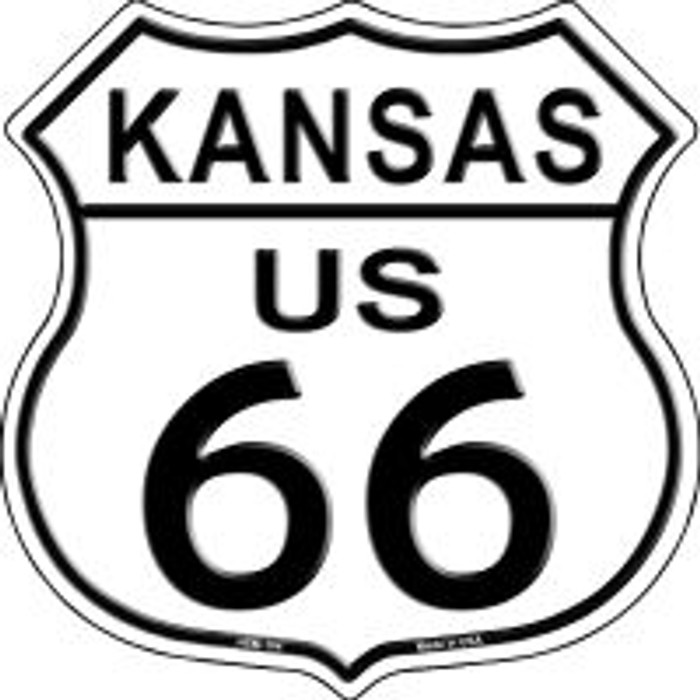 Route 66 Kansas Highway Shield Wholesale Novelty Metal Magnet HSM-104