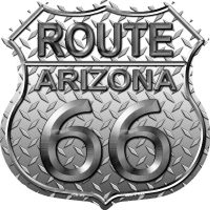 Route 66 Arizona Diamond Highway Shield Wholesale Novelty Metal Magnet
