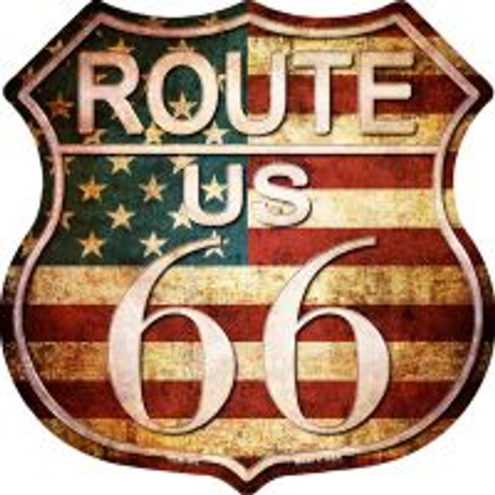 Route 66 American Vintage Highway Shield Wholesale Novelty Metal Magnet