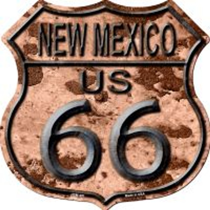 Route 66 New Mexico Rusty Highway Shield Wholesale Novelty Metal Magnet