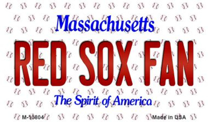 Red Sox Fan Massachusetts Background Novelty Wholesale Metal Magnet