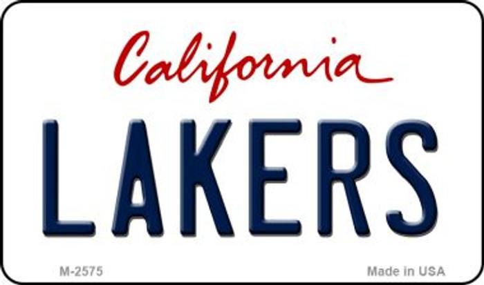 Lakers California Novelty State Background Wholesale Metal Magnet
