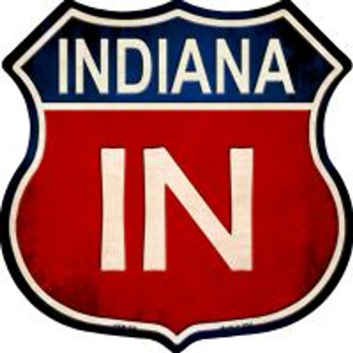 Indiana Highway Shield Wholesale Novelty Metal Magnet