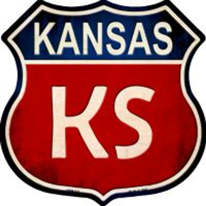 Kansas Highway Shield Wholesale Novelty Metal Magnet